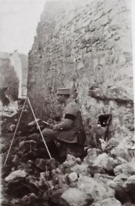 12 - Mars 1917. Dans les ruines de Marbotte (près d'Apremont)