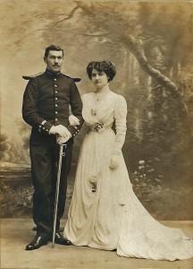 7 - Mariage Léon Manière Berthe Charles, 27-10-1909