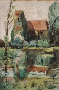 Cricqueboeuf, Calvados, 1921, aquarelle. - Copie