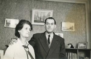 Léon Manière et Berthe Charles vers 1952