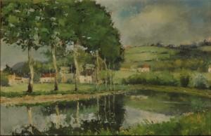 Le Canal de Bourgogne, huile.