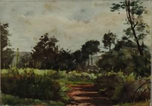 Paysage de Guerre entre Minaucourt et Massiges, 21-8-1916, aquarelle. - Copie