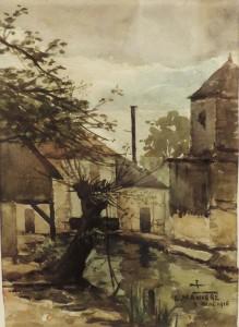 Pendant la Guerre,  8 mai 1916, aquarelle. - Copie