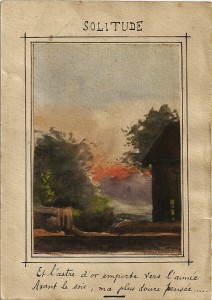 Solitude, Coutémont, 22 mai 1916, aquarelle.